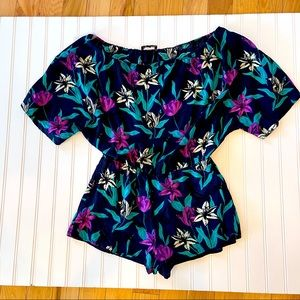 mary & mabel floral romper